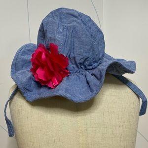 Children's Place floral ruffle bucket hat S 6-12M